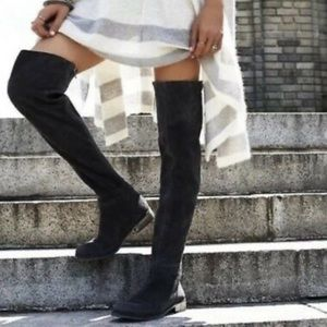 Free People Carlisle Suede Thigh High Boots